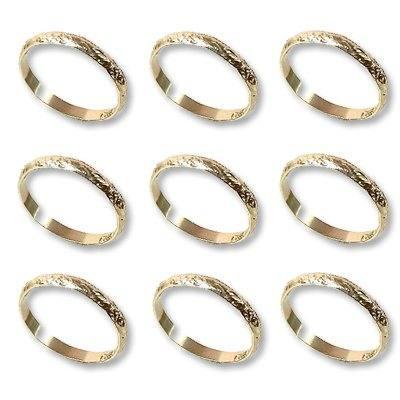 Кольцо Обручальное алюмин золотое 288шт