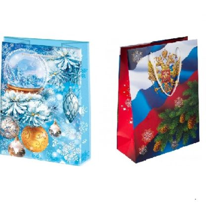 Пакет подарочный 30х22 см Новогодний