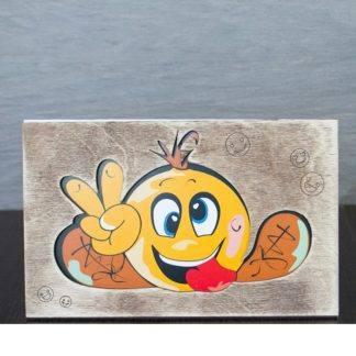 """Деревянная открытка """"Смайлик"""""""