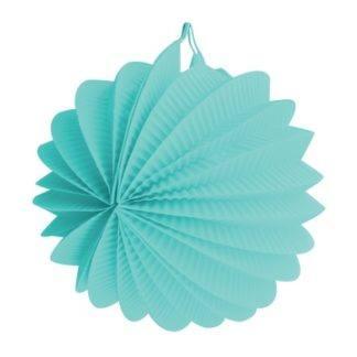 Фонарик бум круглый голубой 25см